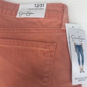 NWT Jessica Simpson Crop Coral Skinny Jeans 12